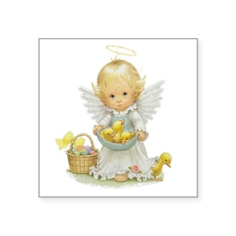 "Easter Angel Square Sticker 3"" x 3"""