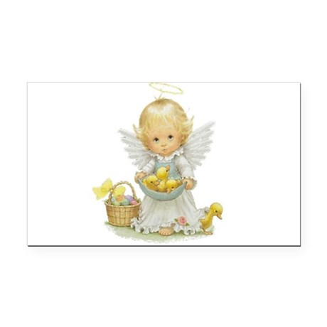Easter Angel Rectangle Car Magnet