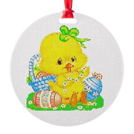 Duckling Round Ornament