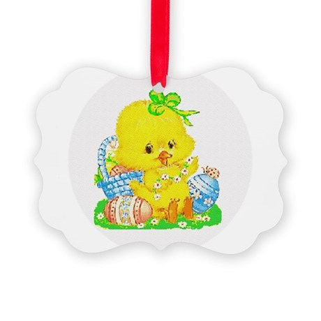 Duckling Picture Ornament