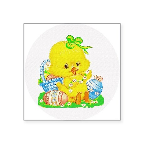 "Duckling Square Sticker 3"" x 3"""