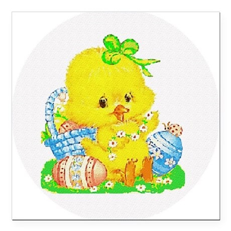 "Duckling Square Car Magnet 3"" x 3"""