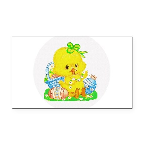 Duckling Rectangle Car Magnet