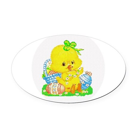 Duckling Oval Car Magnet