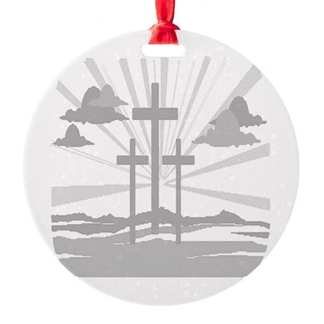 Calvary Round Ornament