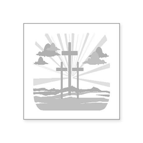 "Calvary Square Sticker 3"" x 3"""