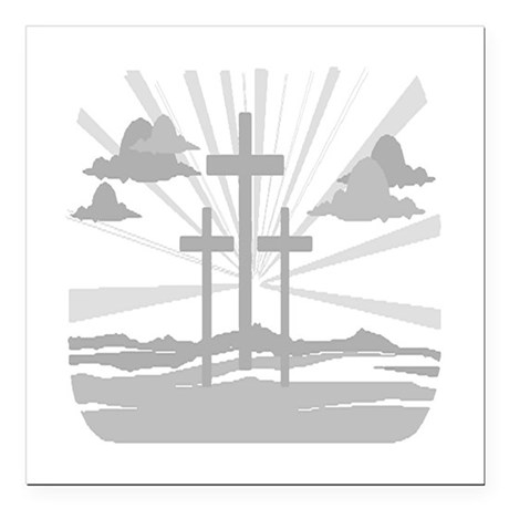 "Calvary Square Car Magnet 3"" x 3"""