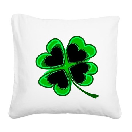 shamrock4a.png Square Canvas Pillow