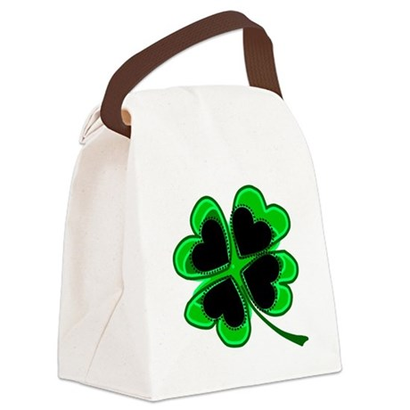 shamrock4a.png Canvas Lunch Bag