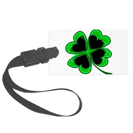 shamrock4a.png Large Luggage Tag