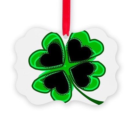 shamrock4a.png Picture Ornament