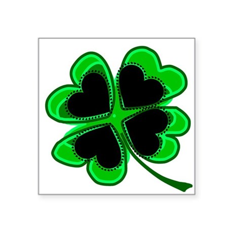 "shamrock4a.png Square Sticker 3"" x 3"""