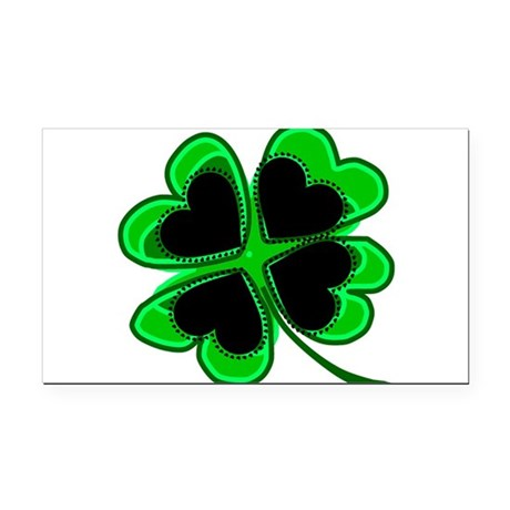 shamrock4a.png Rectangle Car Magnet