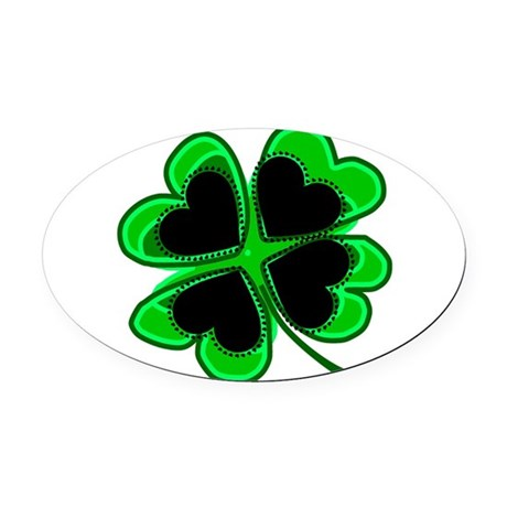 shamrock4a.png Oval Car Magnet