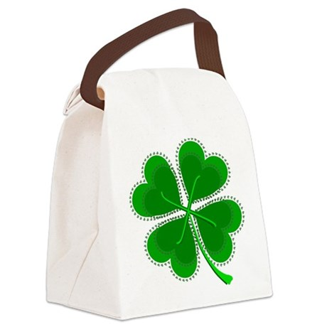 shamrock4a6.png Canvas Lunch Bag