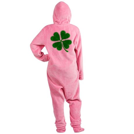shamrock4a6.png Footed Pajamas