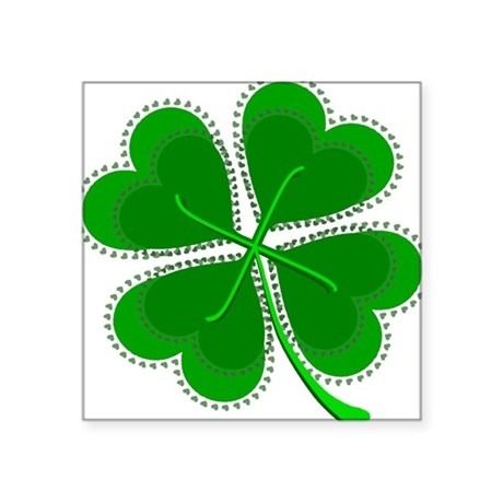 "shamrock4a6.png Square Sticker 3"" x 3"""