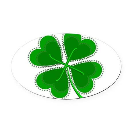 shamrock4a6.png Oval Car Magnet