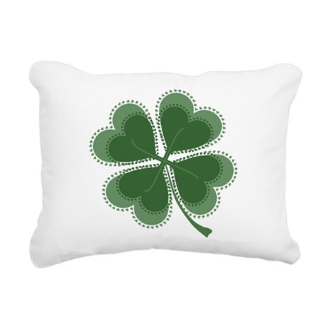 shamrock4a5.png Rectangular Canvas Pillow