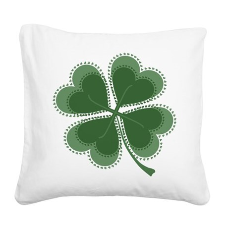 shamrock4a5.png Square Canvas Pillow