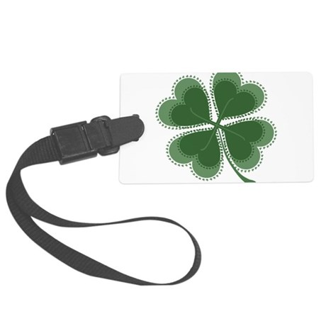 shamrock4a5.png Large Luggage Tag