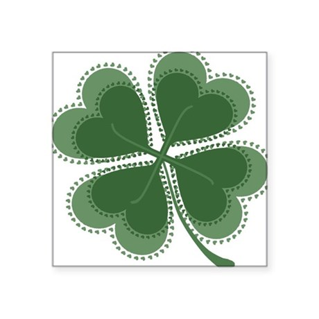"shamrock4a5.png Square Sticker 3"" x 3"""