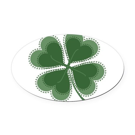 shamrock4a5.png Oval Car Magnet