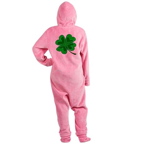shamrock4.png Footed Pajamas