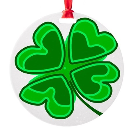 shamrock4.png Round Ornament