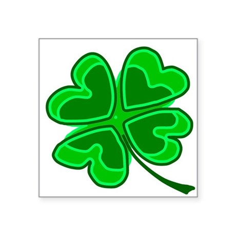 shamrock4.png Square Sticker 3&quot; x 3&quot;