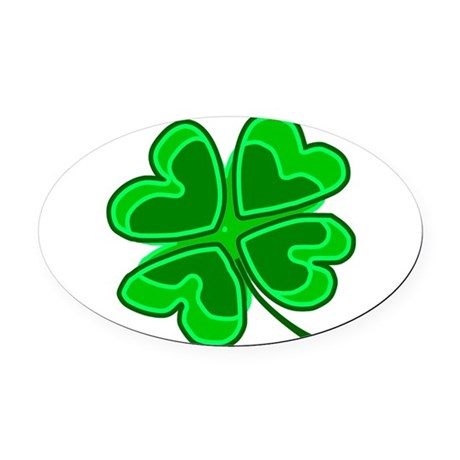 shamrock4.png Oval Car Magnet