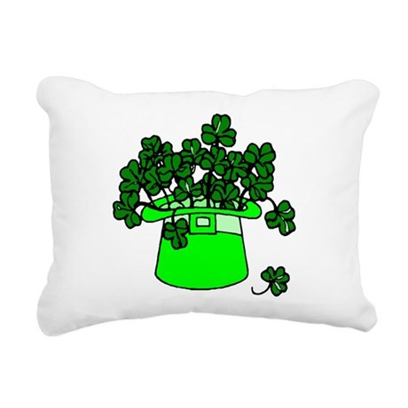 shamrocks2.png Rectangular Canvas Pillow
