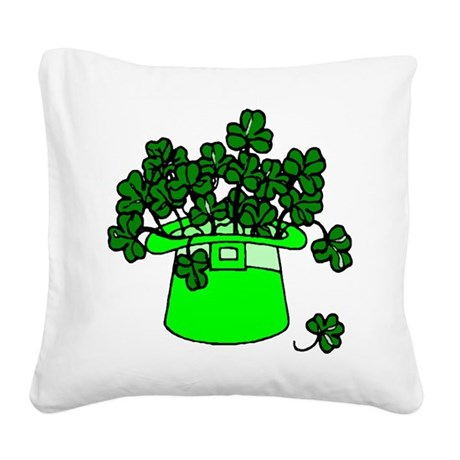 shamrocks2.png Square Canvas Pillow