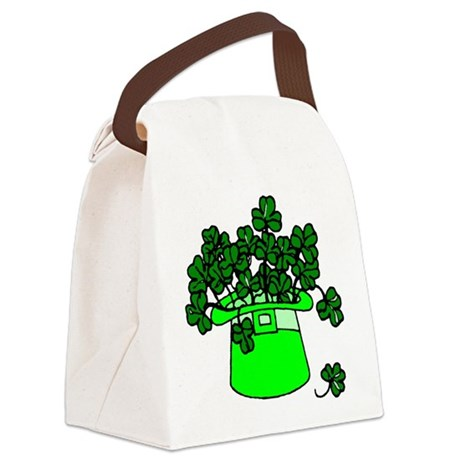 shamrocks2.png Canvas Lunch Bag