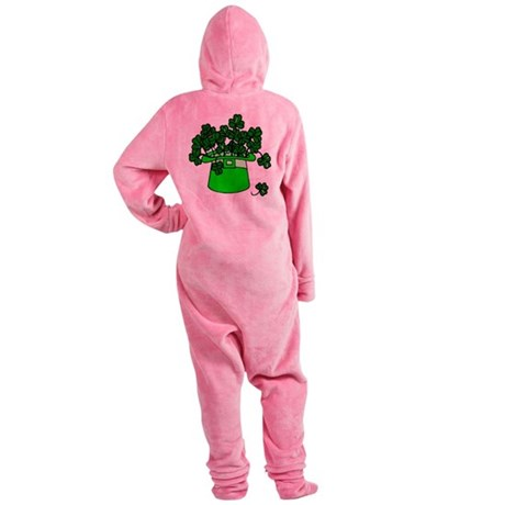 shamrocks2.png Footed Pajamas