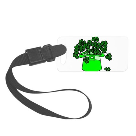 shamrocks2.png Small Luggage Tag