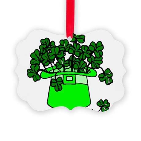 shamrocks2.png Picture Ornament