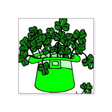 "shamrocks2.png Square Sticker 3"" x 3"""