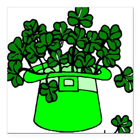 "shamrocks2.png Square Car Magnet 3"" x 3"""