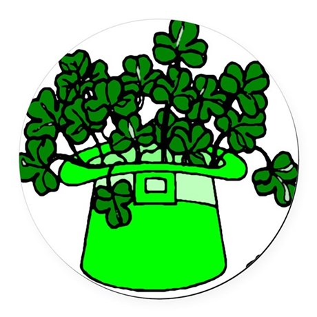 shamrocks2.png Round Car Magnet