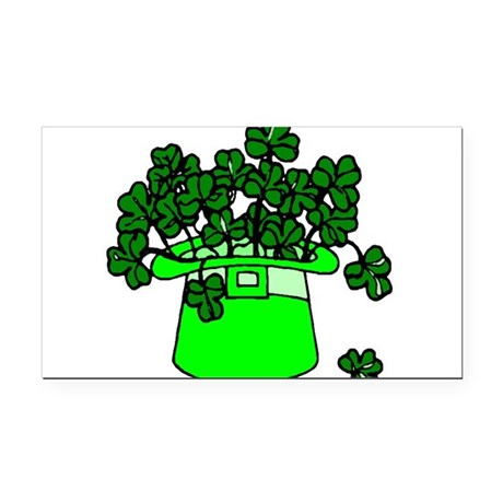 shamrocks2.png Rectangle Car Magnet