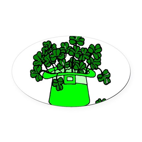 shamrocks2.png Oval Car Magnet
