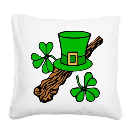 shillelagh2.png Square Canvas Pillow
