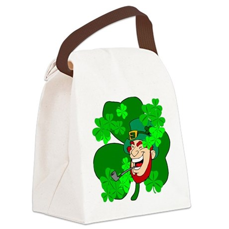 shamrock3b.png Canvas Lunch Bag