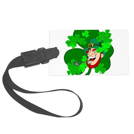 shamrock3b.png Large Luggage Tag