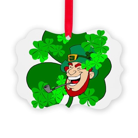 shamrock3b.png Picture Ornament