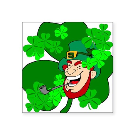 "shamrock3b.png Square Sticker 3"" x 3"""