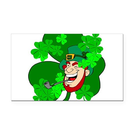 shamrock3b.png Rectangle Car Magnet