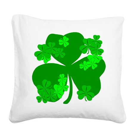 shamrock3a.png Square Canvas Pillow