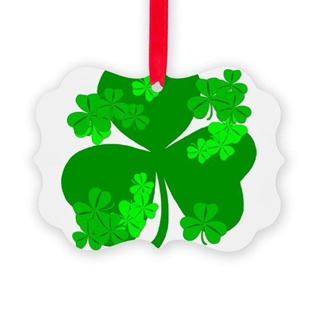 shamrock3a.png Picture Ornament